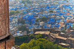 The blue city of Rajasthan Jodhpur.India Royalty Free Stock Photo