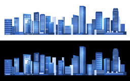 Blue Cityscape Building horizontal modern abstract vector art design Royalty Free Stock Image