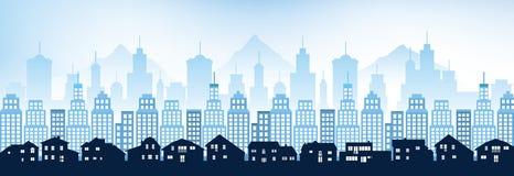 Blue cityscape Royalty Free Stock Photos