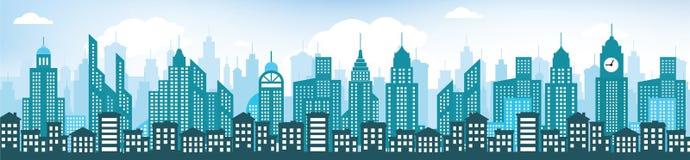Blue cityscape Stock Photos