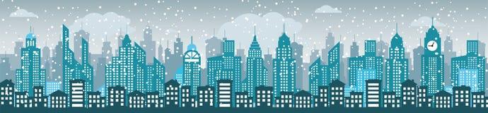 Blue cityscape Stock Photo