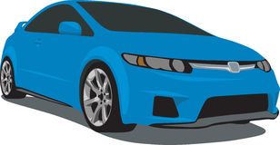 Blue Civic Si Royalty Free Stock Photos