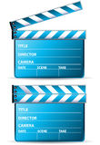Blue clapboard. Clapboard on the white background Stock Images