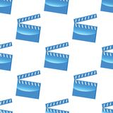 Blue clapperboard pattern Royalty Free Stock Image