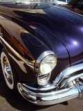 Blue classic American Hotrod. Blue 50s classic American Hotrod royalty free stock images