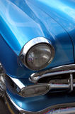 Blue Classic Car. A close up abstract of a shiny blue classic automobile Stock Photos