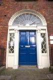 Blue classic door Stock Photos
