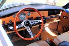 Blue classic 2 door car Stock Photography