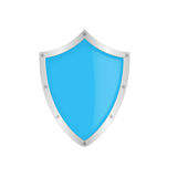 Blue classic shield Stock Photos