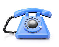 Blue classic telephone Royalty Free Stock Photo