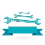 Blue classical tighten Metal key Stock Photos
