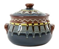 Blue clay pot Royalty Free Stock Photos