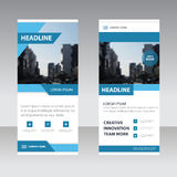 Blue clean Business Roll Up Banner flat design template ,Abstrac. T Geometric banner template Vector illustration set, abstract presentation template Stock Images