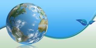 Blue clean tech world vector illustration