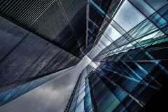 Blue and Clear Glass High Rise Building Royalty Free Stock Photos