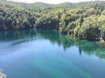 Lake in Croatia. Blue clear lake in Croatia Stock Images