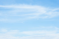 Blue clear sky photograph Royalty Free Stock Photography