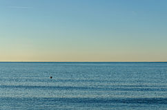 Blue clear water of Black Sea shore from Albena, Bulgaria Stock Photography