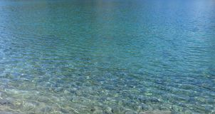 Blue clear water Royalty Free Stock Image