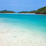 Blue clear waters in Japan Royalty Free Stock Photo