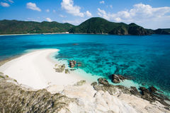 Blue clear waters of Japanese tropical island Royalty Free Stock Images