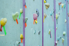 Blue Climbing Wall Stock Image