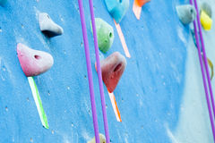 Blue Climbing Wall Stock Photo