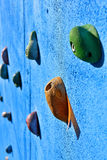 Blue climbing wall Royalty Free Stock Images