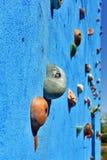 Blue climbing wall Stock Photos