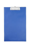 Blue clipboard isolated Royalty Free Stock Image