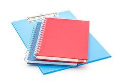 Blue clipboard and notebooks. Stock Photography