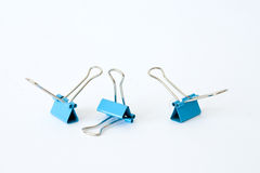 Blue clips Stock Image