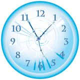 Blue clock Royalty Free Stock Photo