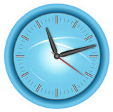 Blue clock Royalty Free Stock Photos