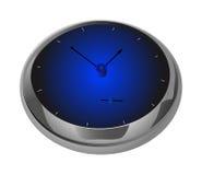 Blue clock 2 Stock Photo
