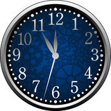 Blue Clock Stock Photo