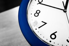 Blue clock. And rolling dice Royalty Free Stock Photography