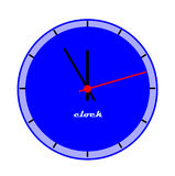 Blue clock face. Stock Photography