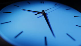 Blue clock. Real time. stock footage