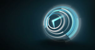 Blue clock ticking very fast stock footage