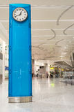 Blue Clock in Toronto International Airport Stock Photography