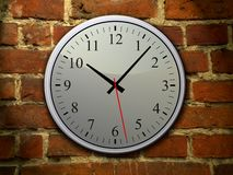 Blue clock on the wall Royalty Free Stock Photo