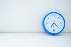 Blue clock Royalty Free Stock Photography