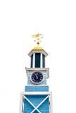 Blue Clocktower Isolated on White Stock Photo