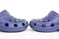 Blue clogs Royalty Free Stock Images