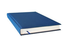 Blue closed book isolated Stock Images