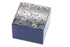 Blue closed box Royalty Free Stock Photography