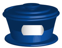 Blue closed container Stock Photography
