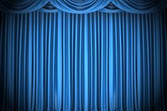 Blue closed the curtain. 3d illustration Royalty Free Stock Photography