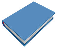 Blue closed hardcover book. Three-dimensional book Royalty Free Stock Images